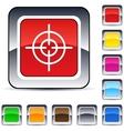 Sight square button vector
