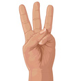 Three from fingers vector
