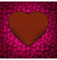 Red valentines day background with hearts eps 8 vector