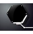 Futuristic screen honeycombs vector