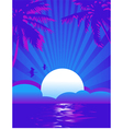 Summer themed tropical sea background with place f vector