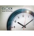 Round wall clock on white vector