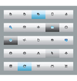 Interface buttons vector