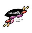 Logo of the petals for cosmetics vector