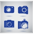 Set of four icons with camera vector