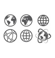 Globe earth icons set on white background vector