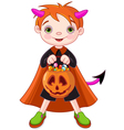 Halloween trick or treating boy vector