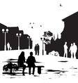 People in city park vector