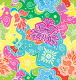 Bright color floral seamless vector