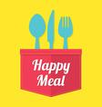 Happy meal vector