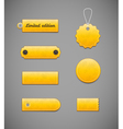 Yellow labels price tags vector