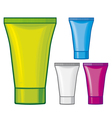 Cosmetic tube - cosmetics containers vector
