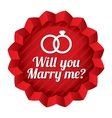 Wedding star will you marry me sticker vector