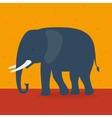 Elephant walking in the field vector