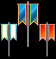 Three banners vector
