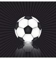 Soccer ball on black background vector
