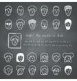Sketchnote avatars vector