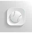 Baseball icon - white app button vector