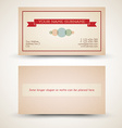 Old-style retro vintage business card vector