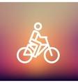 Racing bike thin line icon vector