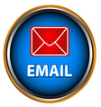 Blue button email vector