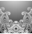 Delicate paisley vector
