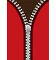Silver metal zipper jacket vector