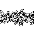 Seamless black lace vector