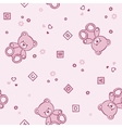 Teddy bears seamless background vector