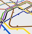 Perspective background of metro scheme vector