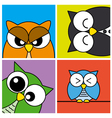 Funny owls card vector