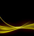 Golden smooth swoosh abstract wave background vector