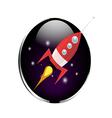Retro rocket spaceship vector