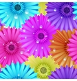 Seamless flower gerbera patter vector