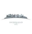 Hyderabad india city skyline silhouette vector