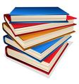 Book pile vector