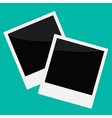 Two instant photos in flat design style vector