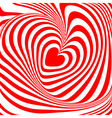 Design heart whirl background vector