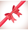 Big shiny red bow and ribbon on white background vector