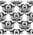 Retro seamless pattern with flourishes vector