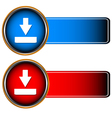 Red and dark blue icons vector