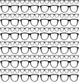 Seamless pattern of sunglasses frames vector