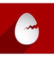 Easter cracked egg vector