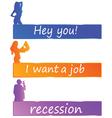 Recession or job color vector