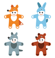 Childrens carnival costumes animals hare fox wolf vector