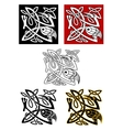 Ornamental birds in celtic style vector