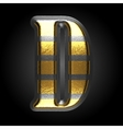 Silver and golden figure d vector