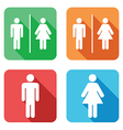 Flat toilet signs vector