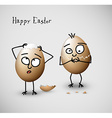 Funny cracked easter eggs - vector