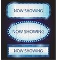 Retro showtime sign theatre cinema vector